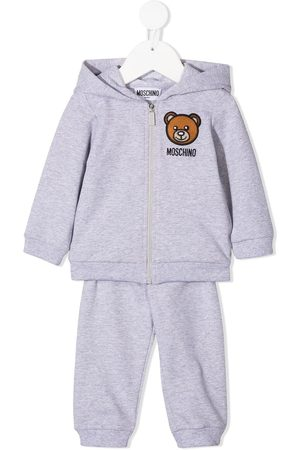 Moschino Toy-embroidered hooded tracksuit