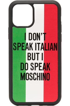 Moschino Damen Handy - Italian flag print iPhone 11 Pro case