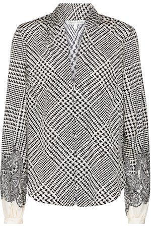 VERONICA BEARD Bluse Beata aus einem Seidengemisch