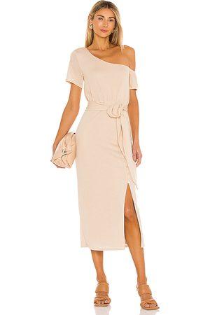 Lovers + Friends Eden Midi Dress in - Beige. Size M (also in XS).