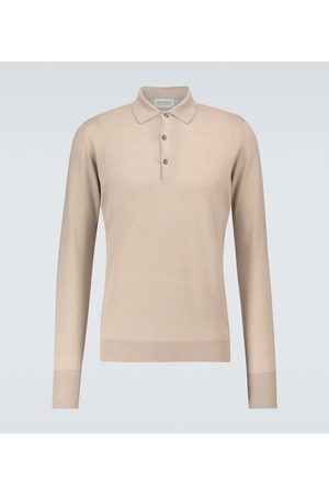 JOHN SMEDLEY Langarm-Poloshirt Cotswold