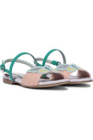 Stella McCartney Verzierte Sandalen aus Lederimitat
