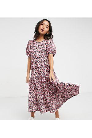ASOS ASOS DESIGN Petite midi tiered smock dress in floral print