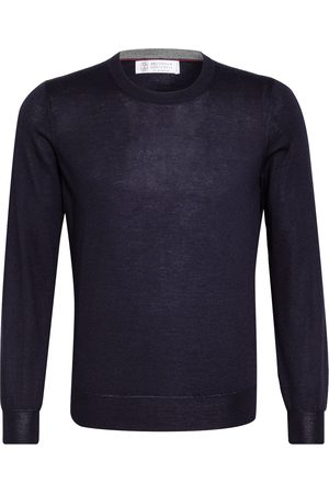 Brunello Cucinelli Cashmere-Pullover Mit Seide blau