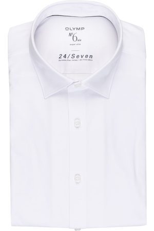 Olymp Herren Business - Jerseyhemd No. Six 24/7 Super Slim weiss