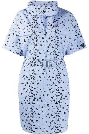 Kenzo Damen Freizeitkleider - Leopard-print belted shirt dress