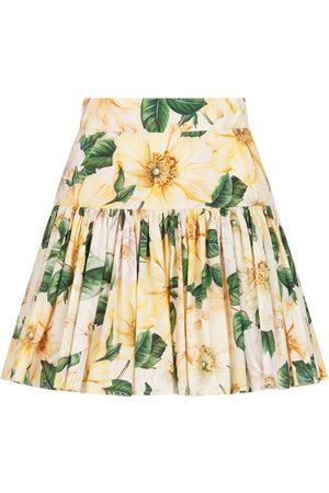 Dolce & Gabbana Damen Bedruckte Röcke - Floral-print mini skirt