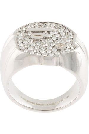A Bathing Ape Herren Ringe - Rhinestone-embellished ring