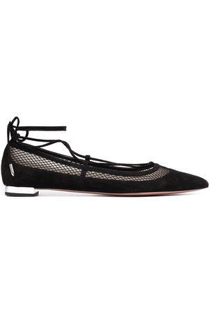Aquazzura Dalia lace-up ballerina shoes