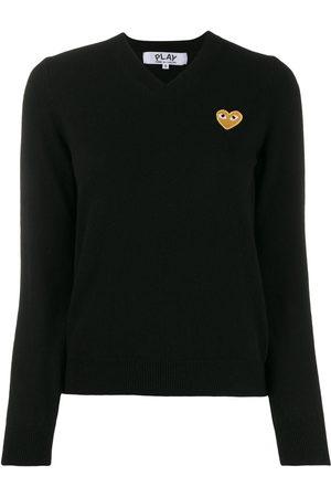 Comme des Garçons Damen Lange Ärmel - Long sleeve V-neck sweater