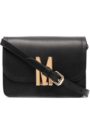 Moschino M logo-plaque bag