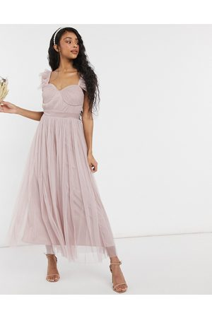 ANAYA With Love Bridesmaid tulle frill sleeve midaxi dress in