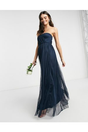 ANAYA With Love Bridesmaid tulle bandeau maxi dress in