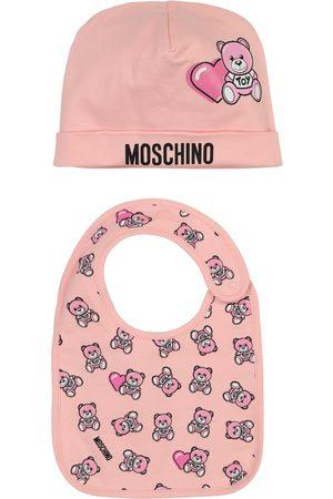 Moschino Baby Set aus Lätzchen und Mütze