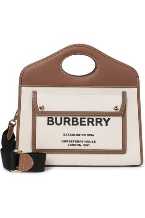 Burberry Tote Pocket Small aus Canvas