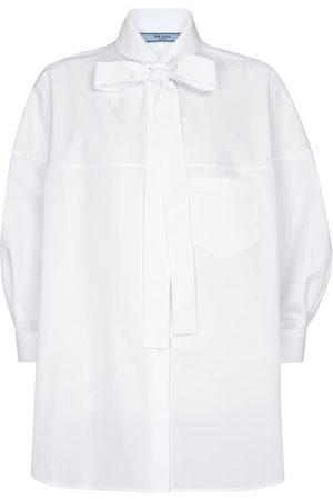 Prada Bluse aus Baumwollpopeline