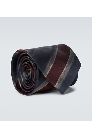 DRIES VAN NOTEN Striped silk tie