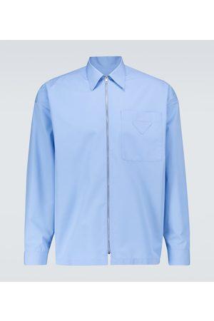 Prada Hemd mit Reißverschluss aus Baumwolle