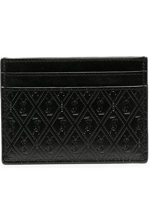 Saint Laurent Herren Geldbörsen & Etuis - Perforated leather cardholder