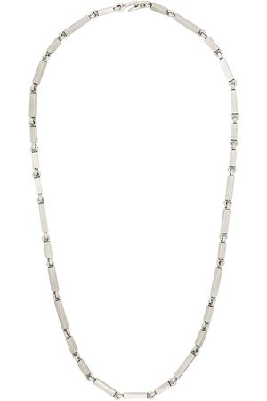 M. COHEN Sterling rectangular-link necklace