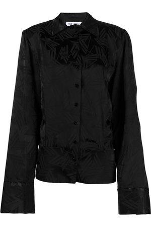 The Attico Jacquard longsleeved blouse