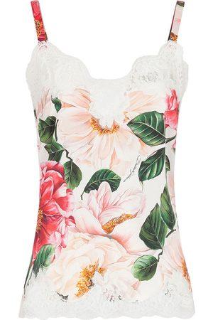 Dolce & Gabbana Damen Slips - Floral lace-detail slip top