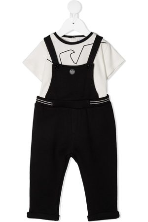 Emporio Armani Kids Outfit Sets - T-shirt and dungaree set