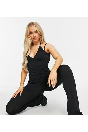 AsYou Tie neck detail jumpsuit in