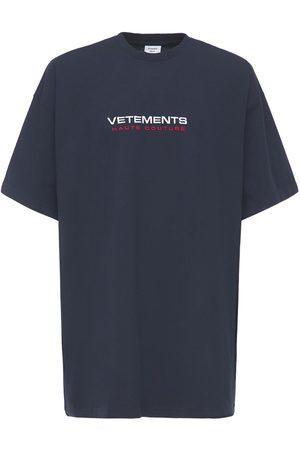 Vetements T-shirt Aus Baumwolle Mit Logo