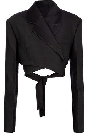 Proenza Schouler Cropped Blazer mit Seidenanteil