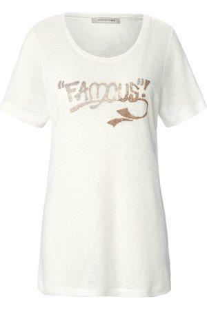 Margittes Damen Shirts - Rundhals-Shirt 1/2-Arm weiss