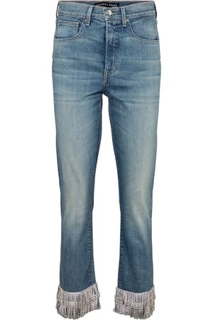 VERONICA BEARD High-Rise Straight Jeans Ryleigh