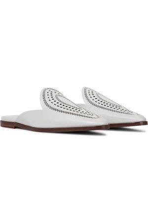 Alaïa Slippers aus Leder