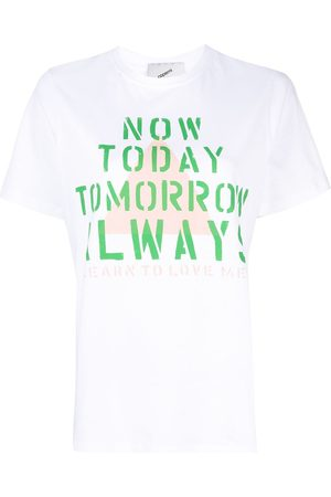 COPERNI Damen Shirts - Now Today print crew neck T-shirt