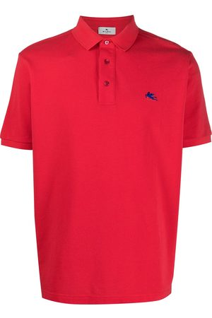 Etro Herren Poloshirts - Embroidered-logo short-sleeved polo shirt