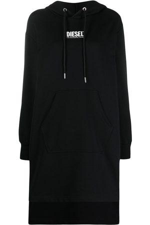 Diesel Logo-print hooded dress