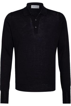 JOHN SMEDLEY Pullover Mit Polokragen blau