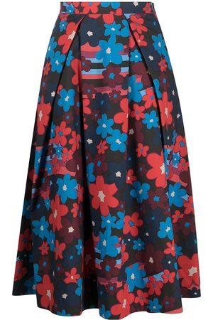 Marni Damen Bedruckte Röcke - Floral-print mid-length skirt