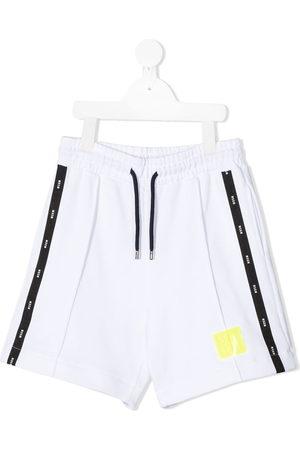 Msgm Logo stripe track shorts