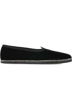 Giuseppe Zanotti Herren Halbschuhe - Embroidered logo velvet loafers