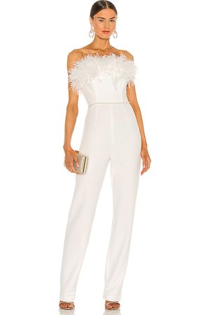 Bronx and Banco Lola Blanc Feather Jumpsuit in - . Size M (also in S).