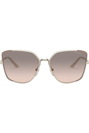 Prada Asia Square in Pale Gold Matte Pink & Pink Grey Gradient - Grey. Size all.