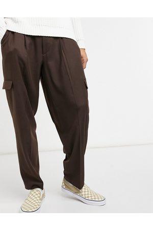 ASOS Oversized tapered cargo smart trouser in
