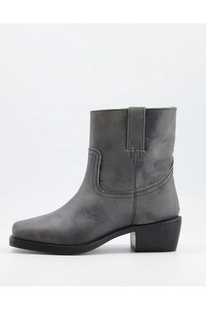 ASRA Maxine square toe pull on boots in leather