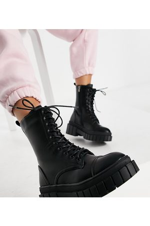 Public Desire Omega chunky lace up boots in