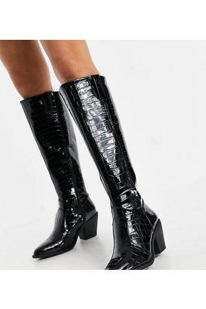 Glamorous Wide Fit Knee high western boots in