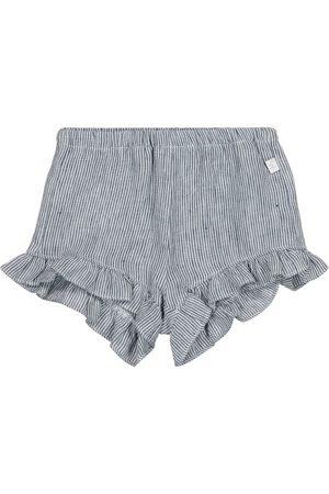 Il gufo Baby Gestreifte Shorts aus Leinen