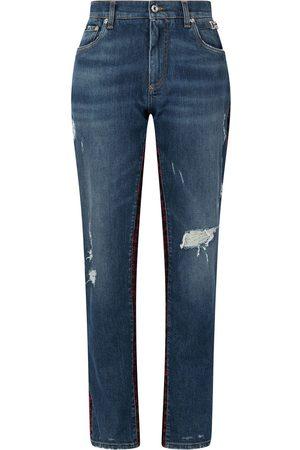 Dolce & Gabbana Tweed panel boyfriend jeans