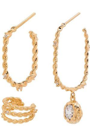Joanna Laura Constantine Damen Ohrringe - Twisted style earring set