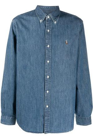 Polo Ralph Lauren Herren Poloshirts - Signature Polo Pony motif denim shirt